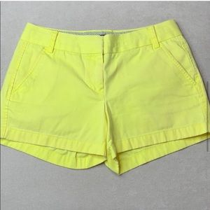 Neon yellow chino shorts
